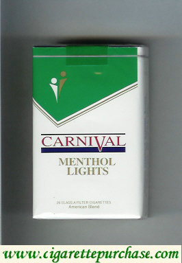 Discount Carnival Menthol Lights cigarettes