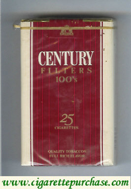Discount Century 100s cigarettes 25 quality tobaccos