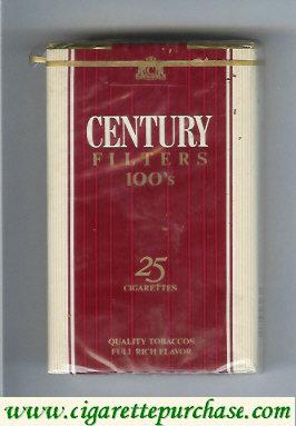 Discount Century 100s cigarettes 25 quality tobaccos