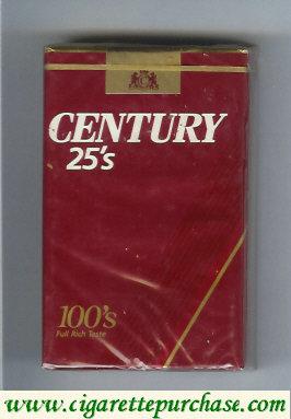 Discount Century 25s 100s cigarettes
