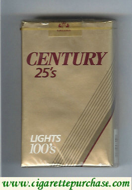 Discount Century 25s Lights 100s cigarettes