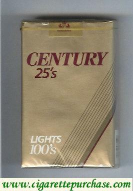 Discount Century 25s Lights 100s cigarettes