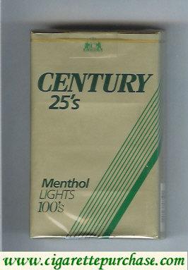 Discount Century 25s Menthol Lights 100s cigarettes