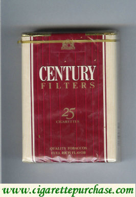 Discount Century Filters 25 cigarettes Quality Tobaccos
