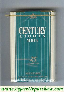 Discount Century Lights 100s Menthol 25 cigarettes