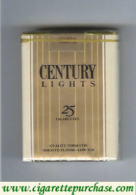 Discount Century Lights 25 cigarettes Quality Tobaccos