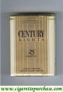 Discount Century Lights 25 cigarettes Quality Tobaccos