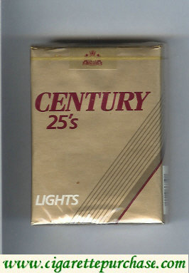 Discount Century Lights 25s cigarettes