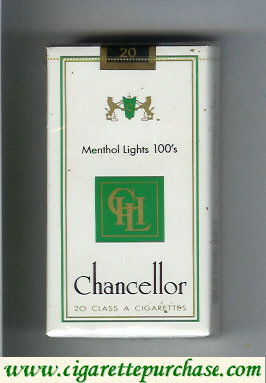 Chancellor Menthol Lights 100s cigarettes