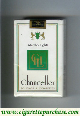 Chancellor Menthol Lights cigarettes