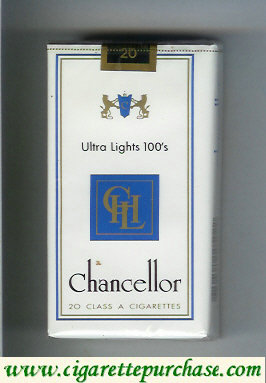 Chancellor Ultra Lights 100s cigarettes
