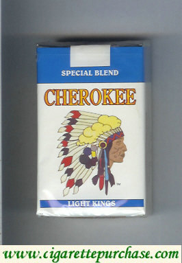 Cherokee Light kings cigarettes Special Blend