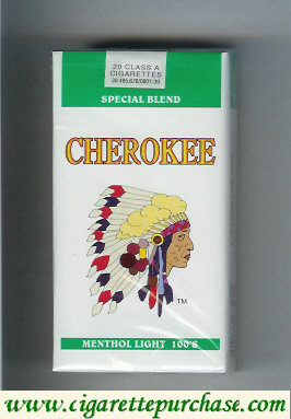 Discount Cherokee Menthol Light 100s cigarettes Special Blend
