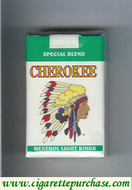 Discount Cherokee Menthol Light cigarettes Special Blend