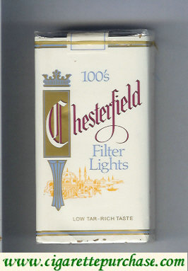 Discount Chesterfield 100s Filter Lights cigarettes