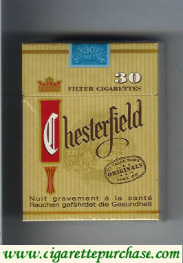 Chesterfield 30 Filter cigarettes