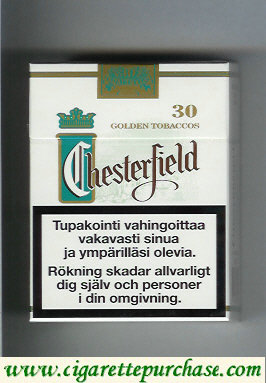 Discount Chesterfield Classic Menthol cigarettes Golden Tobaccos 30