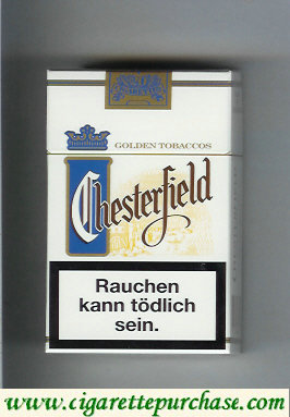 Chesterfield Golden Tobaccos blue light cigarettes