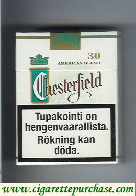 Discount Chesterfield Green Full Flavor Menthol cigarettes American blend 30