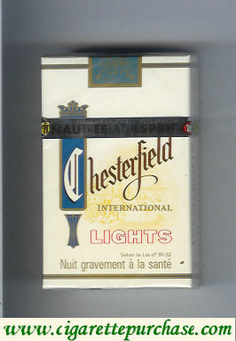 Discount Chesterfield International Lights cigarettes