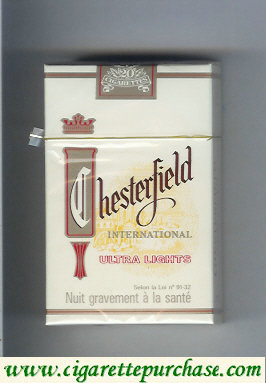 Chesterfield International Ultra Lights cigarettes