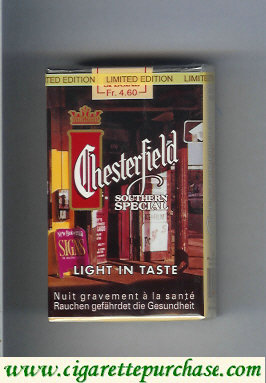 Discount Chesterfield Light in Taste Southern Special cigarettes