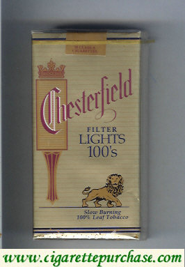 Chesterfield Lights 100s cigarettes
