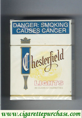 Chesterfield Lights cigarettes South Africa