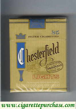 Discount Chesterfield Lights cigarettes greece