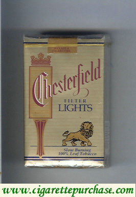 Chesterfield Lights cigarettes