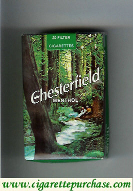 Discount Chesterfield Menthol Filter cigarettes soft box