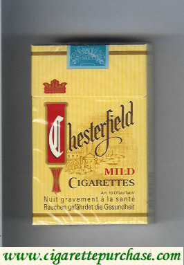 Discount Chesterfield Mild cigarettes hard box