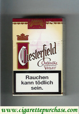 Discount Chesterfield Oriental Velvet cigarettes