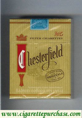 Chesterfield Originals 25 cigarettes filter