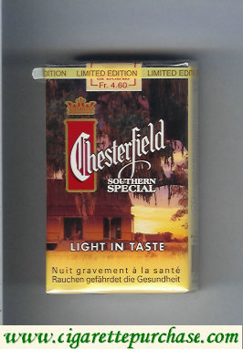 Discount Chesterfield Southern Special Light in Taste cigarettes