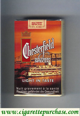 Discount Chesterfield Southern Special cigarettes Light in Taste