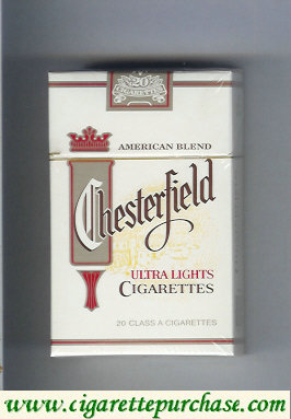 Discount Chesterfield Ultra Lights cigarettes American Blend
