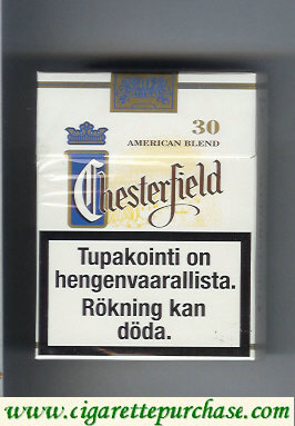 Chesterfield cigarettes American Blend 30