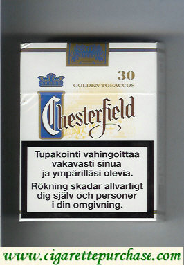 Chesterfield cigarettes Golden Tobaccos 30