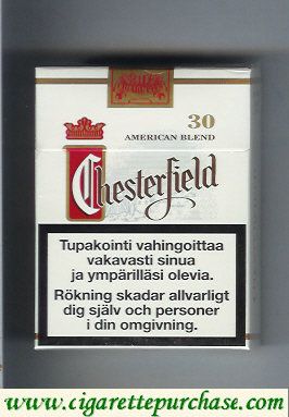 Chesterfield cigarettes american blend Full Flavor