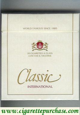 Discount Classic International cigarettes 100s