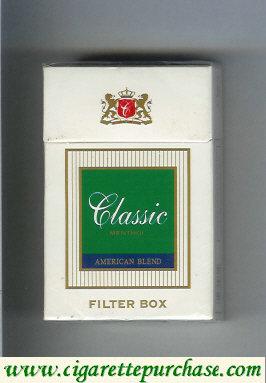 Discount Classic Menthol American Blend cigarettes filter box
