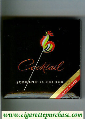 Cocktail cigarettes Sobranie in Colour