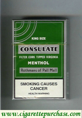 Consulate Menthol cigarettes Rothmans of Pall Mall