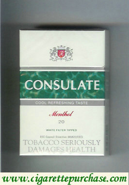 Consulate Menthol cigarettes cool refaeshing yaste