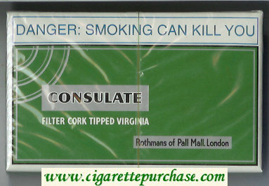 Consulate cigarettes Rothmans of Pall Mall.London