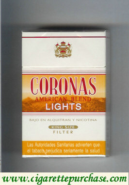 Discount Coronas  Lights cigarettes American Blend