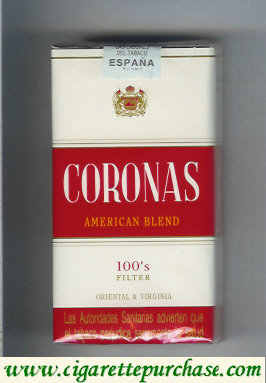 Discount Coronas 100s filter American Blend cigarettes