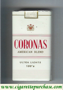 Discount Coronas American Blend 100s Ultra Lights cigarettes