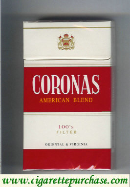 Discount Coronas American Blend 100s filter cigarettes